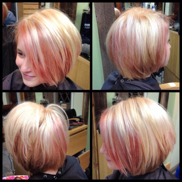 Creative Blush Pink And Blonde Color By Stylist Ashley